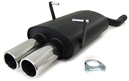 Tenzo-R 22409 Sport Endschalldämpfer Auspuff 2 x 76mm Grade