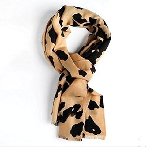 In lana stampa decorazione caldo morbido scialle autunno e inverno lungo paragrafo sciarpa per uomo e donna , khaki leopard