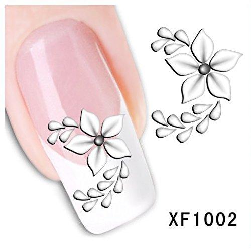 Stickers Pour Ongles stickers décalques à l'eau pour la décoration des bouts d'ongles - Fleur - XF1002 Nail Sticker Tattoo - FashionLife