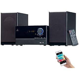 auvisio Mini Stereoanlage: Micro-Stereoanlage, CD-Player, Radio, MP3-Player, Bluetooth, 60 Watt (Mini Anlage)