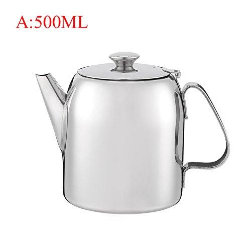 500 ML Tetera de Acero Inoxidable Cafetera Tetera Hervidor de Agua Hogar Cocina Herramientas de Té