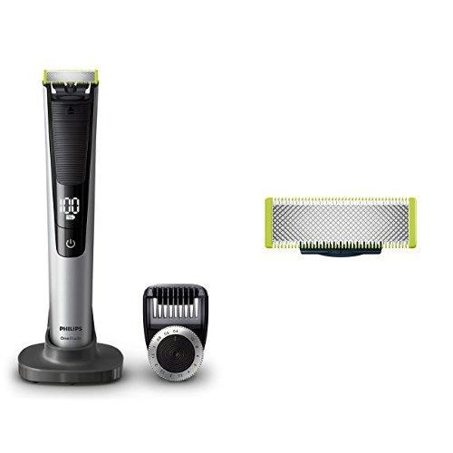 Philips OneBlade Pro QP6520/30, Trimmen, Stylen, Rasieren / Präzisionskamm für 14 Längen, 1 Ersatzklinge