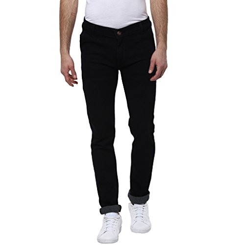 Urbano Fashion Men's Slim Fit Jeans (eps-black-34-05)