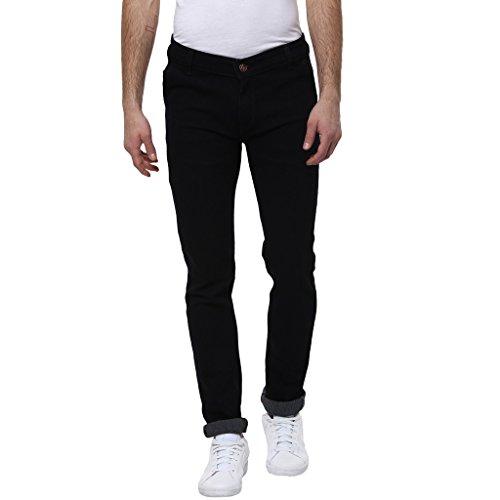 Urbano-Fashion-Mens-Black-Slim-Fit-Stretch-Jeans