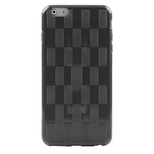 Wkae Case Cover Enkay Hat-Prince Webstruktur Solid Color TPU-Schutzhülle mit Halter für iPhone 6 / 6S ( Color : Black ) Black