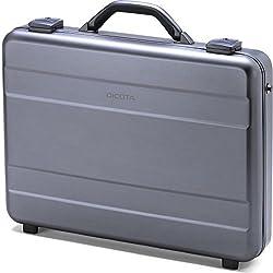 DICOTA Alu Briefcase 14-15.6 (für Notebooks bis 39,6 cm) Strapazierfähige Alu-Notebooktasche