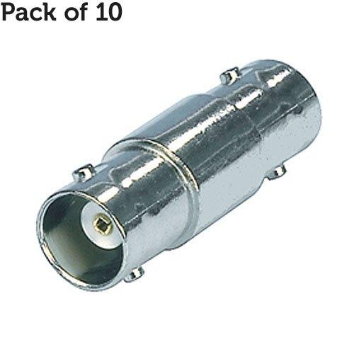 10x BNC Kupplung Joiner Adapter-75Ohm Buchse auf Buchse-CCTV Verlängerungskabel Barrel-Cablefinder Bnc Barrel