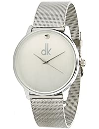 Look_N_Like Silver Chain Belt And Analogue Silver Dial Wrist Watch For Women And Girls - O1