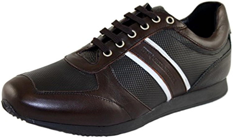 Etiqueta Negra Schuhe Shoe Herrenschuhe Sneaker Gr.44 8010 dunkelbraun