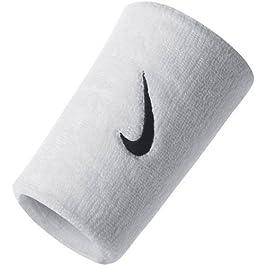 Nike Swoosh Double Wide Wrist Bands ac0010101Uomo Palestra per polso