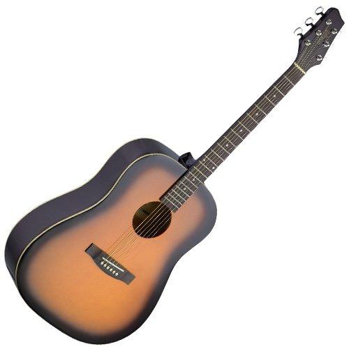 Stagg SA30D-BS - Guitarra acústica con cuerdas metálicas, color marrón