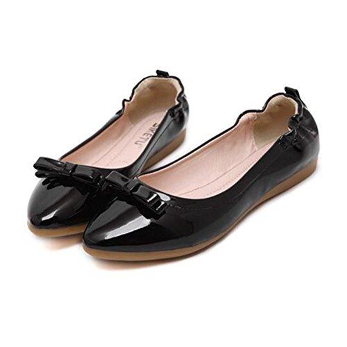 Mallimoda Donna Mocassini Casuali Slip On Scarpe da Barca Comodo Flat Loafers Nero