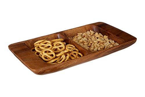 3 x 31 x 31 cm Brown Acacia Wood Premier Housewares Plate
