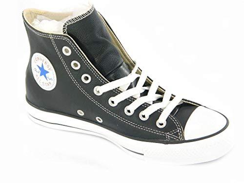 All star scarpa sneaker alta hi nera black pelle ltr 132170c 37,5 eu