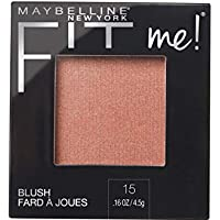 Maybelline New York - Fit Me Blush Colorete en Polvo Mate, para Todo Tipo de Pieles, Tono 15 Nude