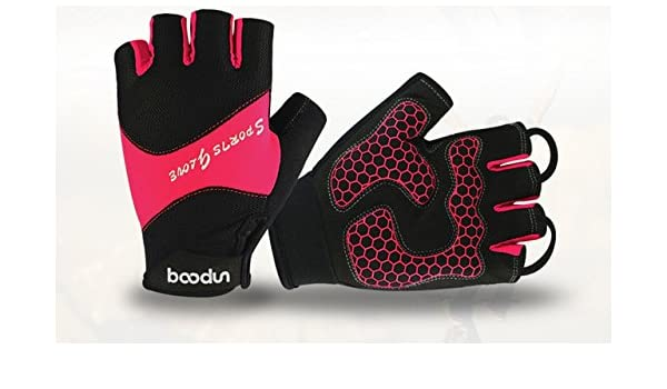 2018 Red BOODUN Sports Cycling Gloves Half Finger Bike Bicycle Shockproof Gloves