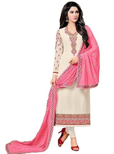Justkartit 2017 Party Wear Salwar Kameez / Latest 2017 Embrodiery Semi-Stitched Salwar...