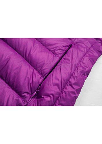 Topgraph Damen Daunenjacke mit Stehkragen Plus Size Ultra Lightweight Coat Jacke Lightdaune Purple