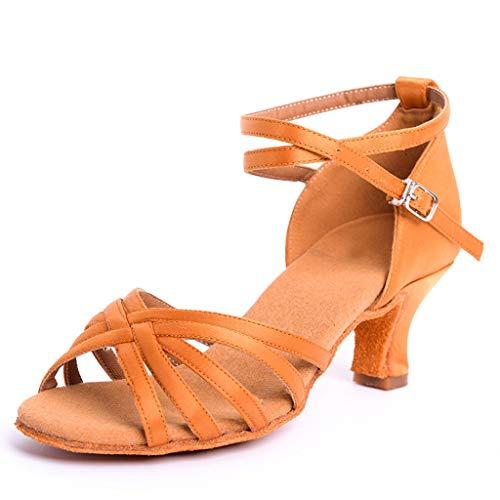 DoGeek-Zapatos de Baile Latšªn Zapatos Latinos de Satšªn Ni?as Zapatos Latinos Mujer para Ni?os/Ni?as...