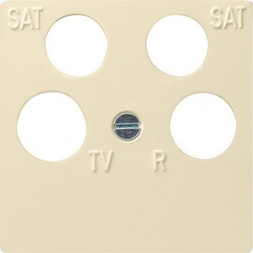 Gira Zentralplatte 025901 4fach Fuba ECG Astro cremeweiss