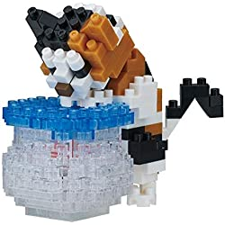 nanoblock-nanoblock-nbc-272-animals in Action Series Fishbowl Cat Juguete, nbc-272