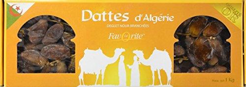 La Favorite Datte Deglet Nour Branchées Qualité Or Algérie 1 kg - Lot de 2
