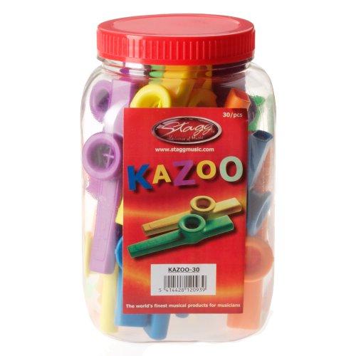 STAGG   JUEGO DE KAZOOS (30 UNIDADES)