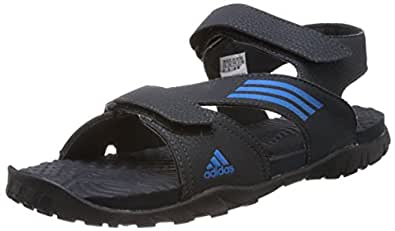 adidas Men's Echo Dark Shale and Solar Blue Athletic & Outdoor Sandals - 12 UK