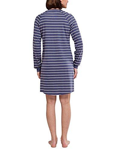 Schiesser Damen Nachthemd Blau (dunkelblau 803)