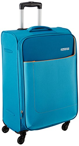 American Tourister Polyester 69 cms Turquoise Softsided Check-in Luggage (AMT JAMAICA SP 69CM TURQ)