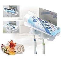 FOURCHEN|Conjunto de soporte de cepillo de dientes reutilizable Fácilmente soporte de cabeza de cepillo