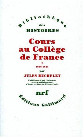 Cours au collège de France, tome 1