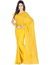 Aruna Sarees Women's Chiffon Saree With Blouse Piece (Plain)