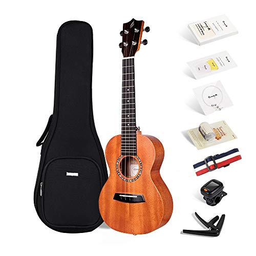 Enya ukulele Tenore EUT-200A 26 pollici con corpo in mogano, borsa imbottita, accordatore, tracolla, capotasto, corde di scorta, plettri, panno per la pulizia, fingershaker
