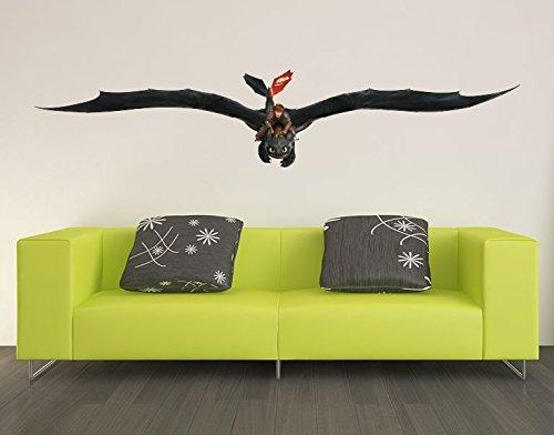 Preisvergleich Produktbild Wandtattoo Dragons Hicks und Ohnezahn B x H: 70cm x 14cm von Klebefieber®