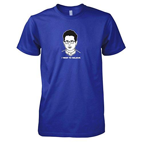 Preisvergleich Produktbild TEXLAB - Abrams: I want to Believe - Herren T-Shirt,  Größe XL,  marine