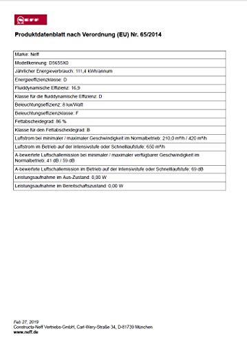 Neff DBM60A (D5655X0) / Lüfterbaustein / 50cm / Edelstahl / Wahlweise Abluft- oder Umluftbetrieb - 3