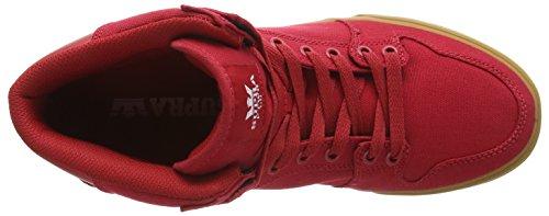 Supra - Vaider, Alte Scarpe Da Ginnastica, unisex Rosso (cardinal - gum   car)