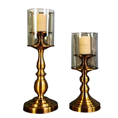 Fkduih Europäische bronze Glas Kerzenhalter Tabelle romantisches Hotel Club Zimmer luxuriöse Dekoration Dekorationen (Candleabra Halloween)