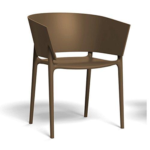 Vondom Africa Armlehnstuhl, Bronze matt H x B: 75 x 58cm für Innen- und Außenbereich geeignet -