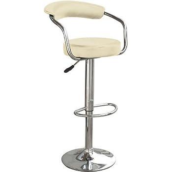 Charmant Vinsani Cream U0026 Chrome Swivel Bar Kitchen Breakfast Stools Chair 060