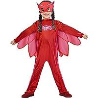 PJ Masks Superhero Kids Child Owlette Fancy Dress Costume & Mask