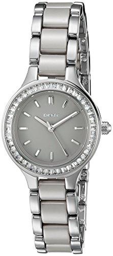 Dkny Women's Chambers NY2466 Grey Stainless-Steel Quartz Fashion Watch