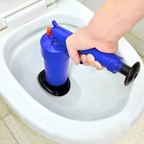 Feli546Bruce, herramienta para desatascar el cabello de serpiente, desatascador neumático de la presión del aire, desagüe de lavabos, desagüe de bañera y desatascador de fregadero de cocina, azul