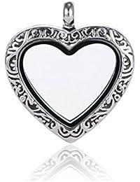 Andante plata colgantes para flotación charms juego de medallones + kleenes traumhandel