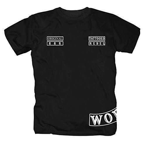 Tattooed Rebel -World- T-Shirt, Schwarz, XX-Large