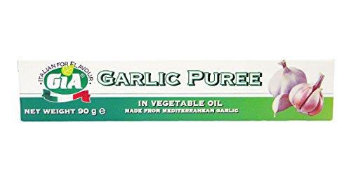 Gia - Purée d'ail en tube - à l'huile végétale - 2 tubes de 90 g
