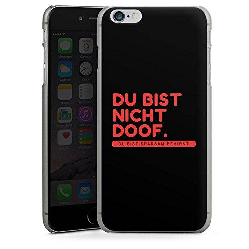 Apple iPhone X Silikon Hülle Case Schutzhülle Doof Sprüche Lustig Hard Case anthrazit-klar