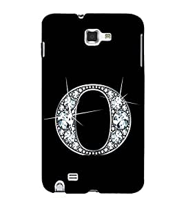 Alphabet O 3D Hard Polycarbonate Designer Back Case Cover for Samsung Galaxy Note 2 :: Samsung Galaxy Note II N7100
