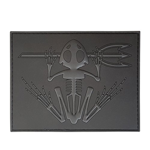 2AFTER1 Blackout Low Visibility ACU US Navy Seals Bone Frog Skull Skeleton DEVGRU Morale PVC Touch Fastener Patch -